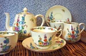 Cottage Garden Tea Set for Two